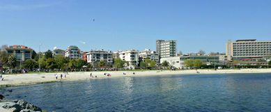 Пляж Yesilkoy, Стамбул Стоковое Изображение