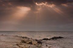 Пляж Zallaq Стоковая Фотография RF