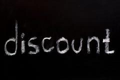 Рабат слова writtent на классн классном стоковая фотография rf