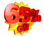 рабат 65 с цены процентов Стоковое Изображение RF