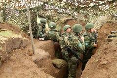 работает воинских воинов России s Стоковые Фото
