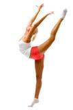 работает гимнастическую делая женщину Стоковые Изображения RF