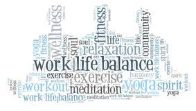 Работайте баланс жизни Стоковое Фото
