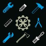 Работайте инструменты собрание, аппаратуры ремонта вектора для плотничества бесплатная иллюстрация