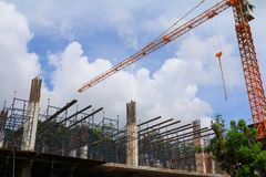 Работайте конструкция и ремонтина в здании рабочего места места Стоковые Изображения RF