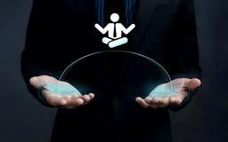 Работайте концепция баланса жизни, ручка бизнесмена форма острословия человека стоковые фото