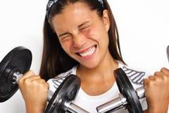 работайте принуждающ женщину стоковое изображение rf