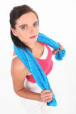 работать женщину обмундирования гимнастики Стоковое Фото