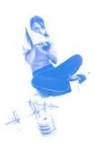 работать женщину стоковое изображение