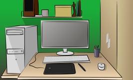 Работать компьютер Стоковое фото RF