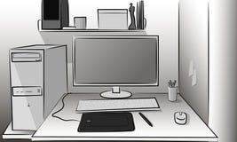 Работать компьютер Стоковые Изображения RF