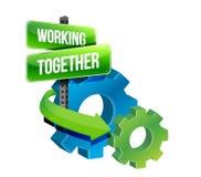 Работать совместно зацепляет иллюстрацию принципиальной схемы Стоковые Фото