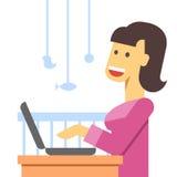 Работающая мать плоская Стоковое Изображение RF