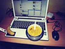 Работая еда Стоковая Фотография RF