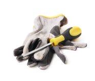 Работая изолированные перчатки Стоковое Фото