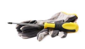 Работая изолированные перчатки Стоковое Изображение RF
