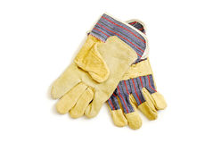 Работая изолированные перчатки Стоковое фото RF