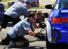 Работая команда экипажа ямы Стоковое фото RF