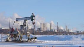 Работая насосы для продукции и нефтехимического завода сырой нефти сток-видео