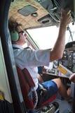 работая пилотный гидросамолет Стоковые Изображения