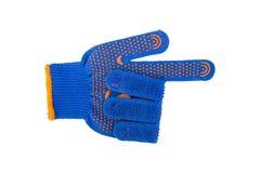 Работая синь перчатки на белой предпосылке Стоковое Изображение RF