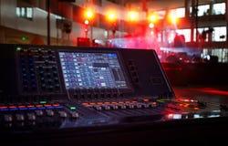 Работая ядровая панель на предпосылке этапа концерта Стоковая Фотография