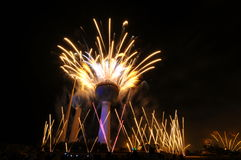 работа башен Кувейта пожара стоковые изображения rf