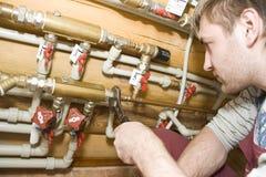 работа водопроводчика Стоковое фото RF