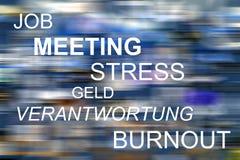 Работа, встреча, стресс, Geld, Verantwortung, прогар Стоковое Фото