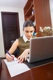 Работа в офисе Стоковые Фото