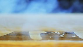 Работа гравировки лазера подвергая механической обработке акции видеоматериалы