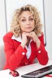 работа женщины офиса стоковая фотография rf