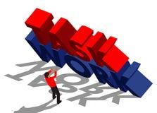 Работа, задача и бизнесмен иллюстрация вектора