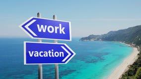 Работа или каникула стоковое изображение
