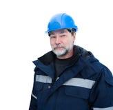 Синь шлема инженера Стоковое Изображение RF