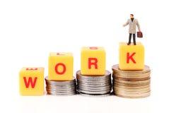 Работа и деньги стоковая фотография