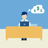 Работа и деньги Стоковое фото RF