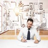 Работа и концепция успеха Стоковые Изображения RF