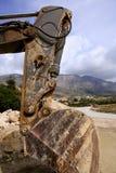 работа камней бульдозера backhoe трудная стоковая фотография