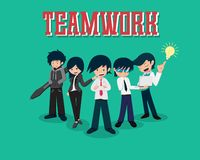 Работа команды человека 01 зарплаты в команде иллюстрация вектора