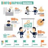 Работа команды дела Infographic, успех, сообщение, приносит пользу Стоковые Фотографии RF