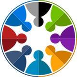 работа команды логоса Стоковые Изображения RF