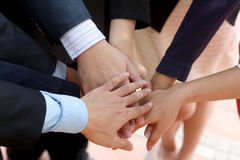 Работа команды организации бизнеса руки Стоковое Фото