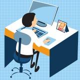 Работа компьютера бизнесмена Стоковое Изображение RF