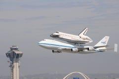 Работа космического летательного аппарата многоразового использования, Los Angeles 2012 Стоковые Изображения