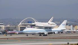 Работа космического летательного аппарата многоразового использования, Los Angeles 2012 Стоковые Изображения RF