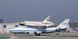 Работа космического летательного аппарата многоразового использования, Los Angeles 2012 Стоковое Изображение RF