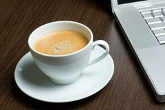 работа кофе Стоковые Фото