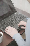 Работа клавиатуры Стоковая Фотография