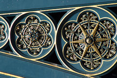 работа металла моста богато украшенный стоковое изображение